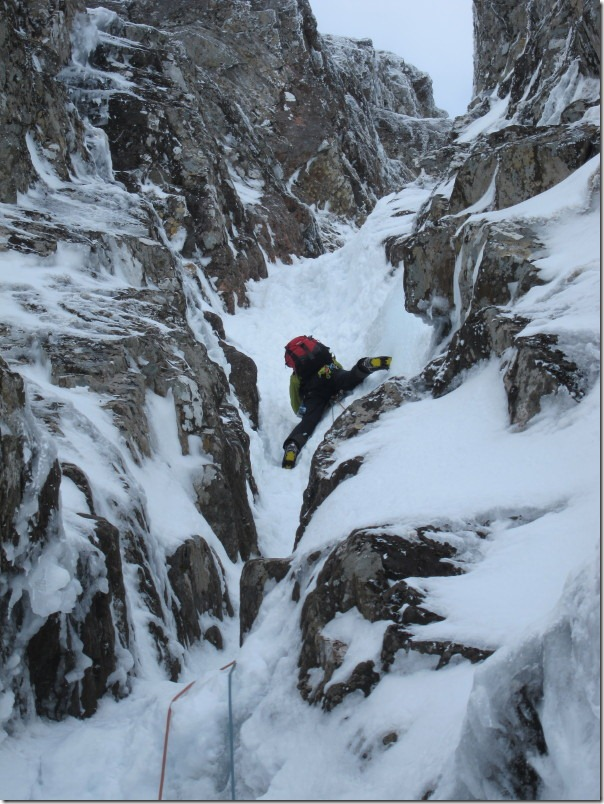 Matt briding out on the third pitch of Smiths Gully