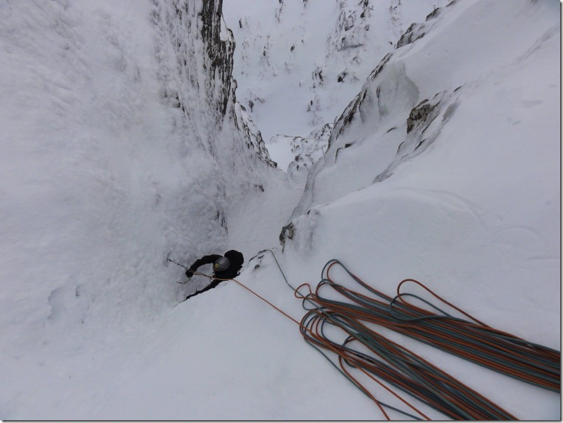 Following the third pitch of Smiths Gully
