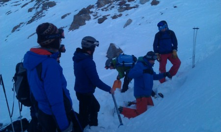 Observing Stuart macdonal running an Avalanche Acadamy course out of Chamonix. Three days of skiing and looking at snow.