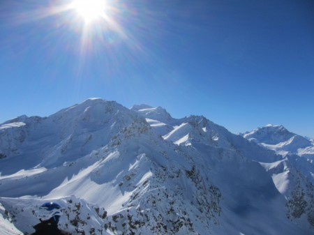 Stunning views out towards the Grand Combin