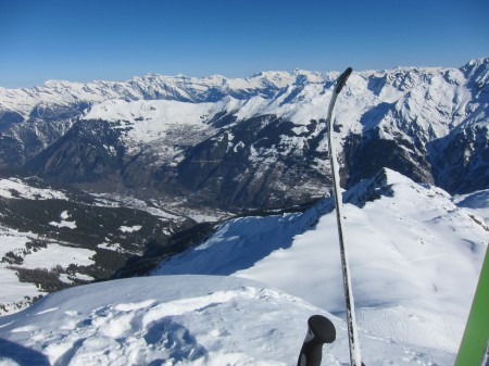 Looking across towards Verbier
