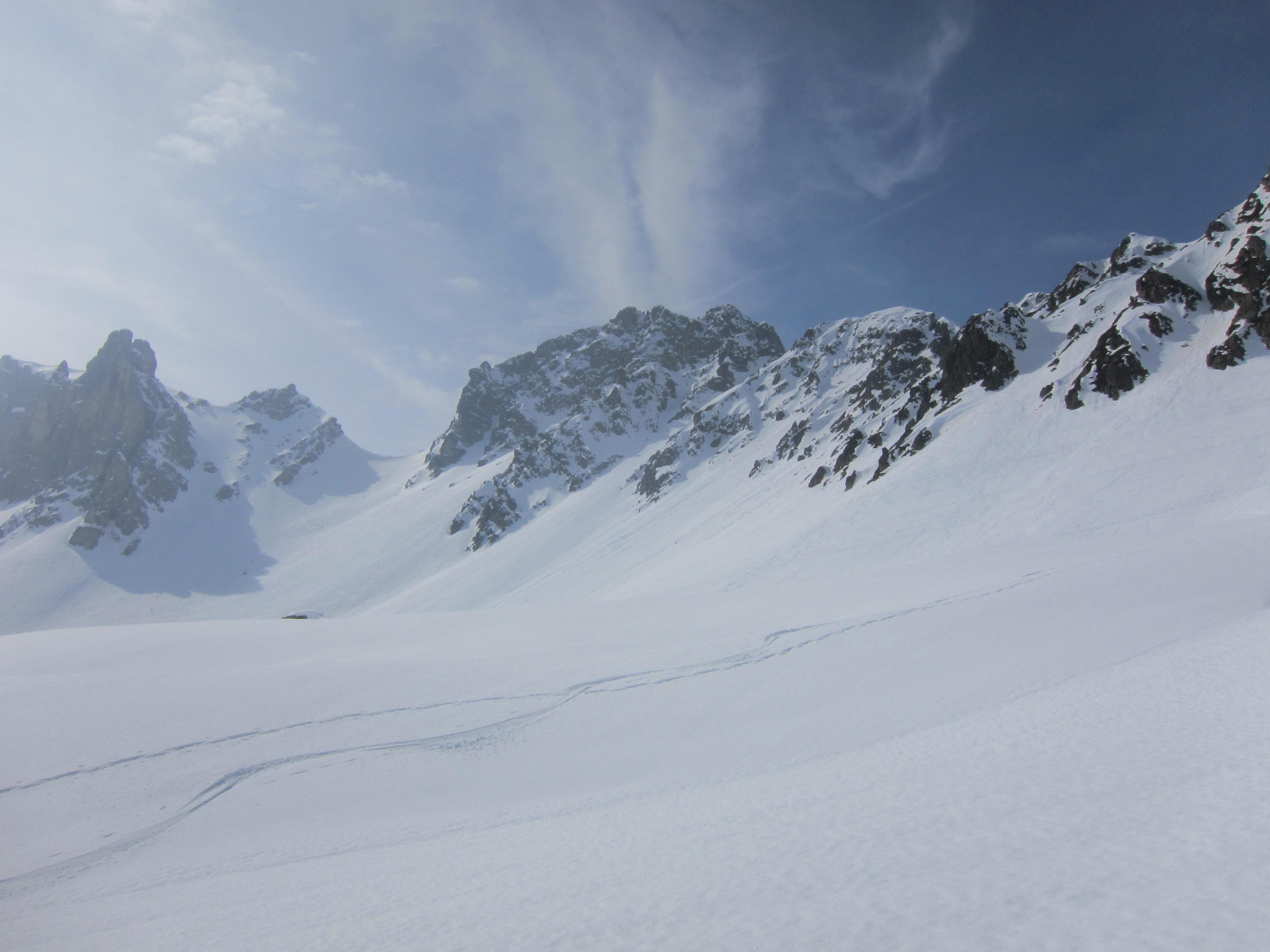 Looking across to the Col de la Cicle
