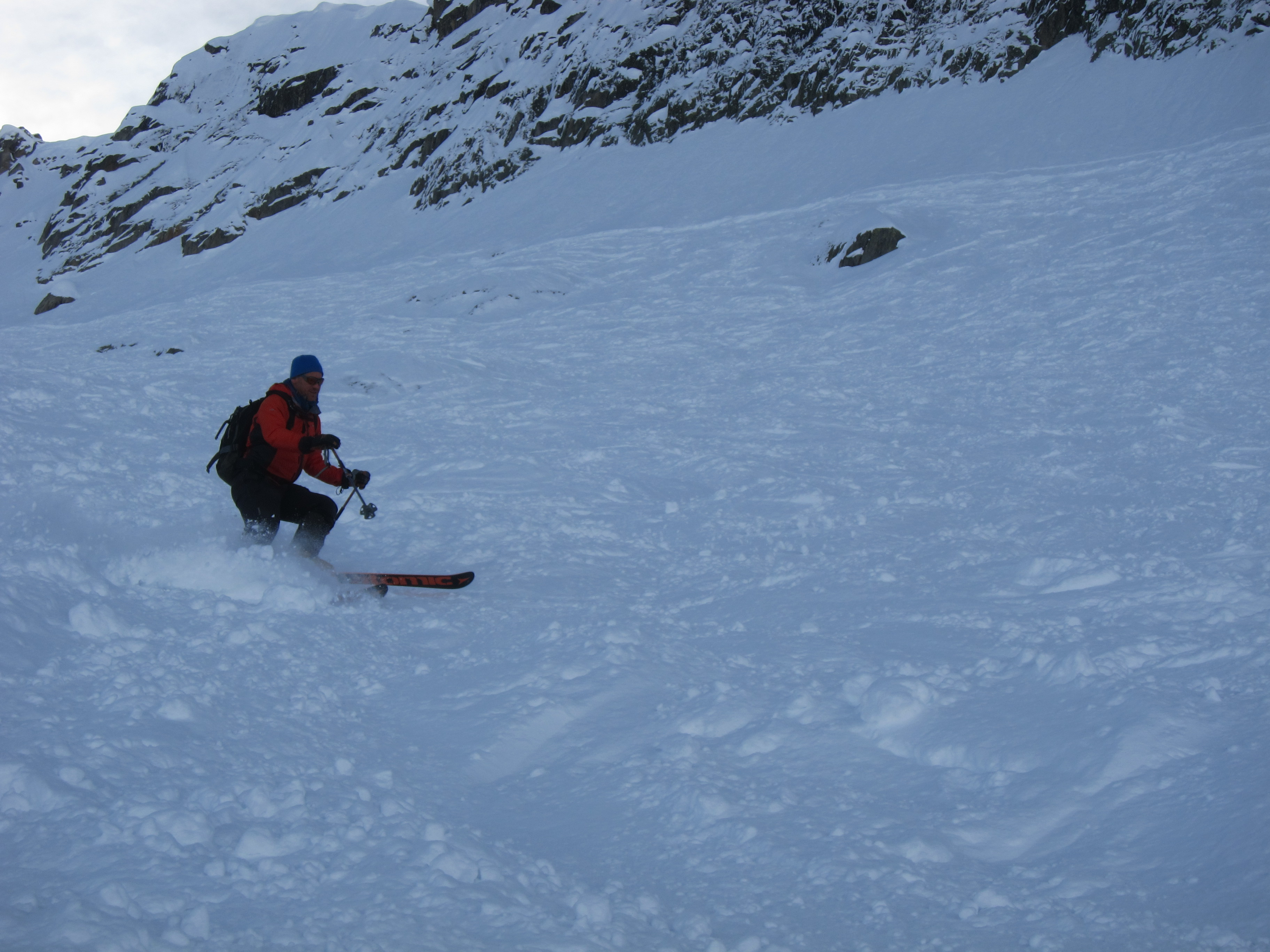 Totally skied out lumps below the herse lift