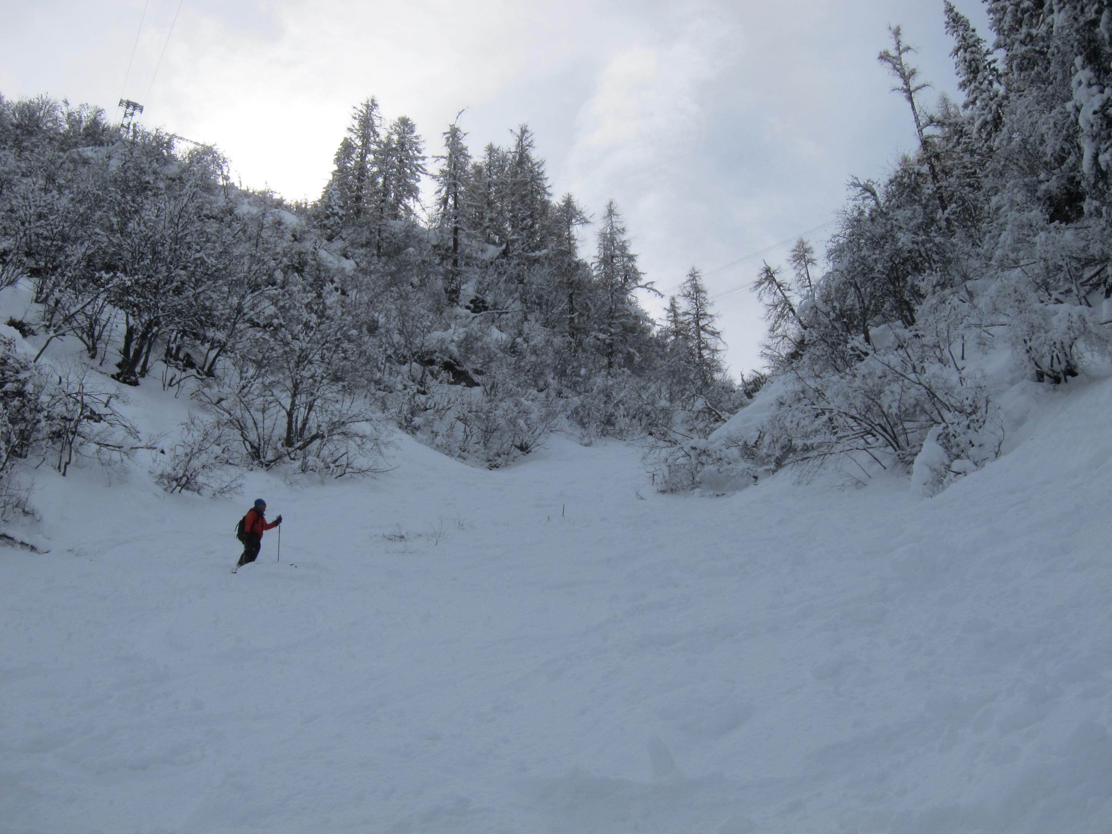 Mark enjoying the skiing