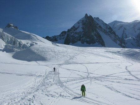 Vallee Blanche, Tour Ronde in the background.