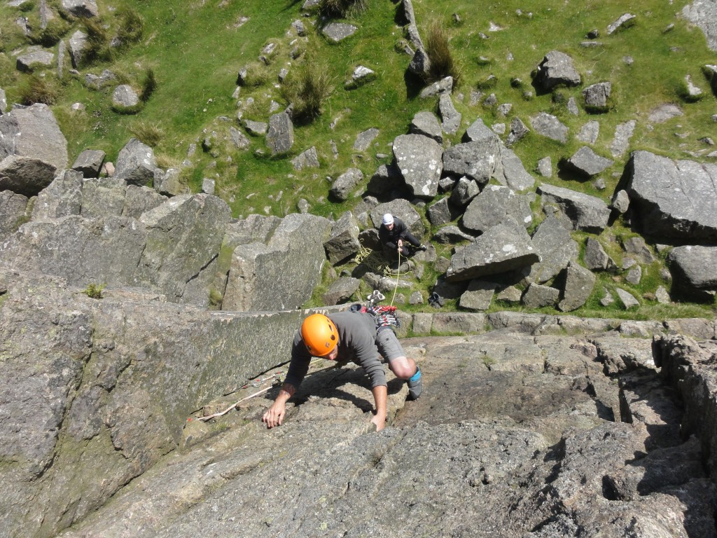 Tommi Leading with Jamie belaying
