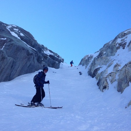 Nice Couloir before the glacier