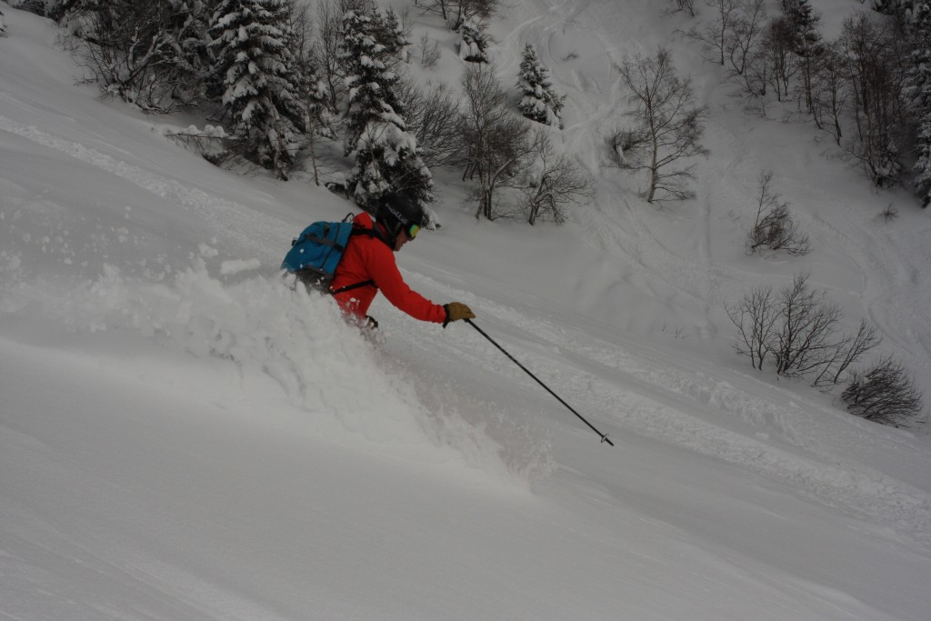 A morning's run below Brevant, Chamonix