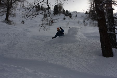 Below the Plan D'Aiguille - some great powder on these off piste runs.