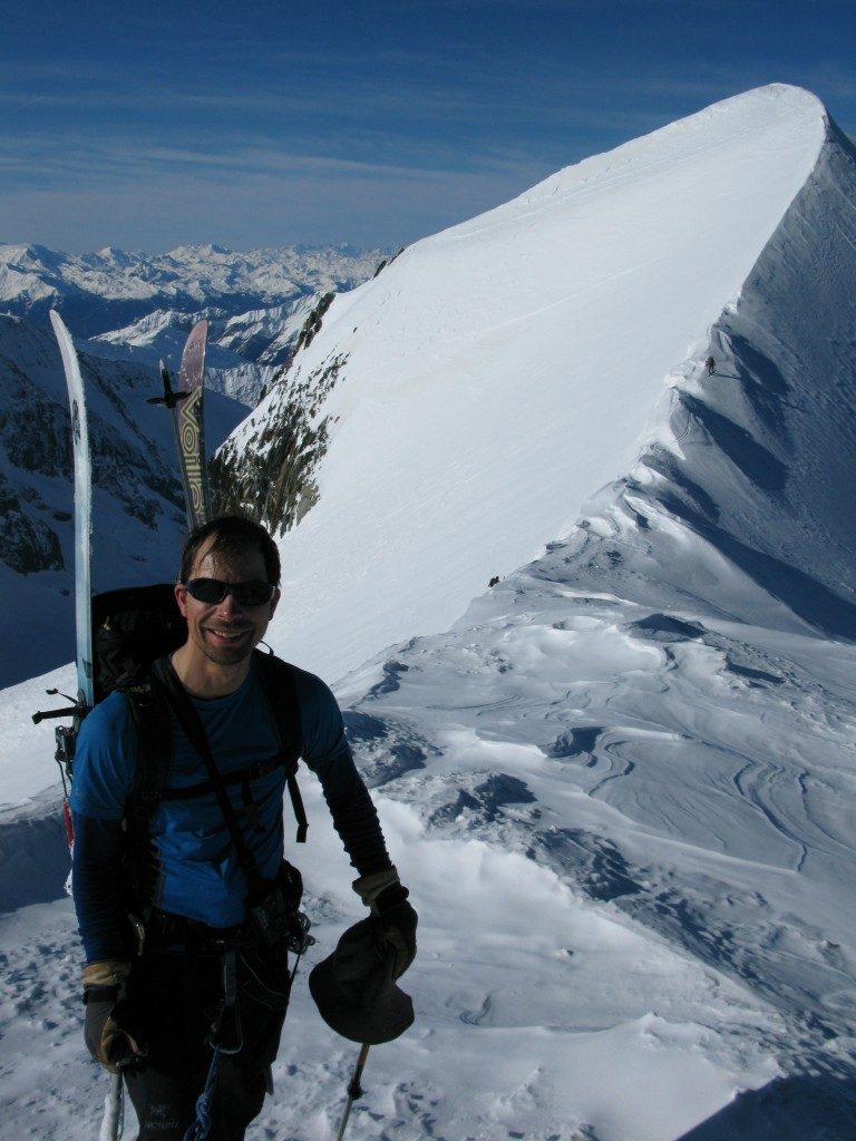 The classic summit ridge