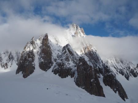 Fresh overnight snow on Mont Blanc du Tacul