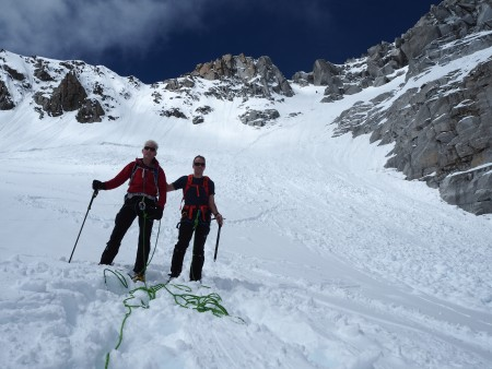 The normal (winter) route on the Tour Ronde