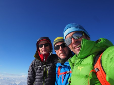 On the summit with Ken and Ray - guiding for High Mountain Guides.