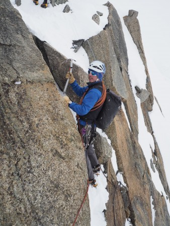 Fellow British Mountain guide Kenny Grant mid flow