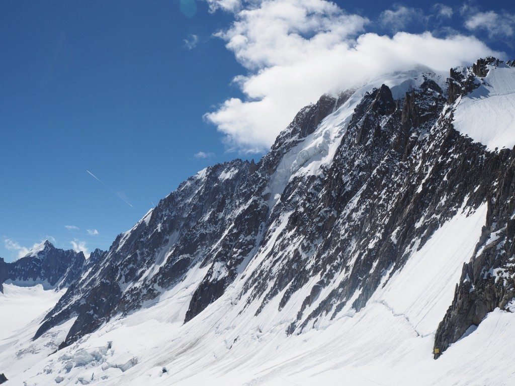 Looking across the North Faces of the Verte and Droites