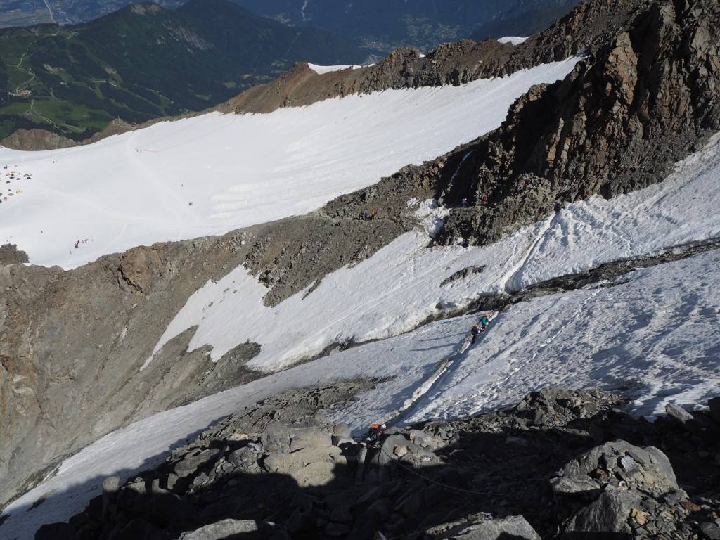 The grand couloir before the Tete Rousse refuge
