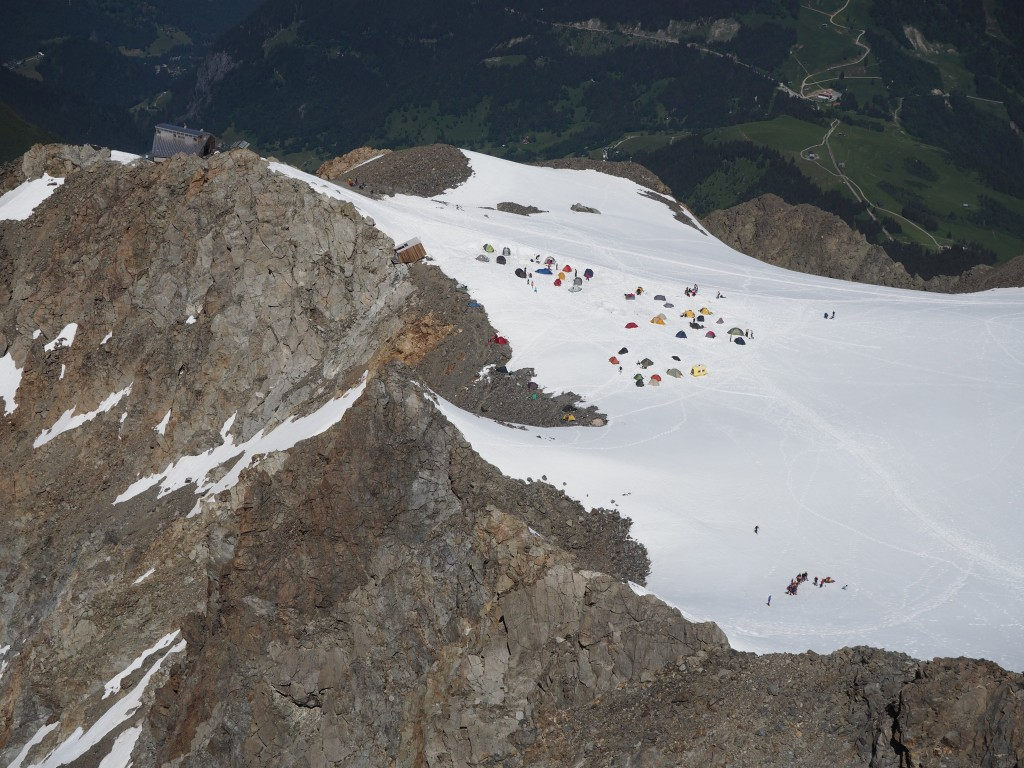 Tent city and Tete Rousse