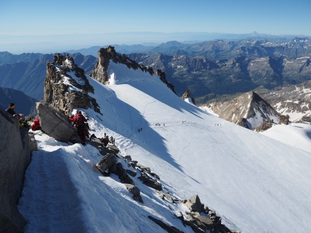 High summer season and busy on the Grand Paradiso - perfect weather