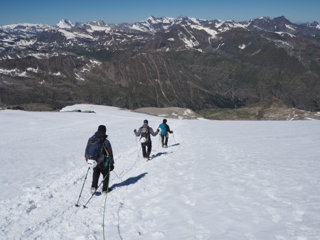 Descending towards the Emmanuele on the Grand Paradiso
