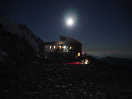 The Tete Rousse refuge. We had the four am breakfast.