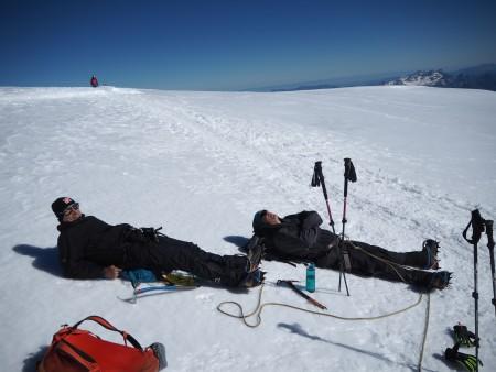 Sun bathing at 4300m.