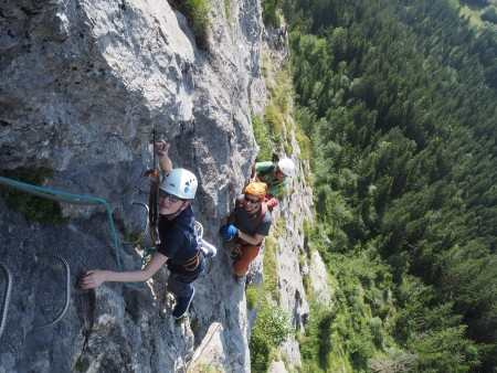 Via Ferrata above Passy